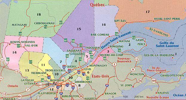 Administrative regions of Quebec / Régions administratives du Québec