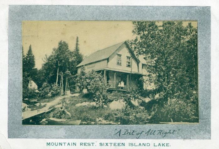 """Mountain Rest,"" Sixteen Island Lake, 1905"