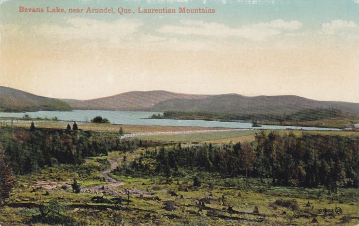Lac Bevans, Arundel, vers 1908. / Bevans Lake, Arundel, c.1908.