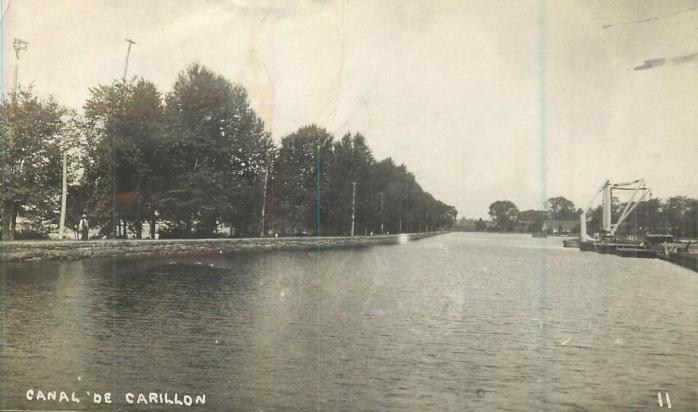 Canal de Carillon, vers 1910 / Carillon Canal, c.1910