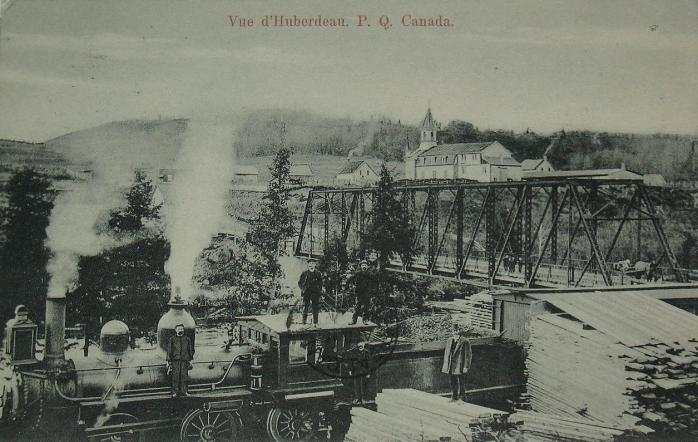 Chemin de fer et pont / Railway and bridge, Huberdeau 1910