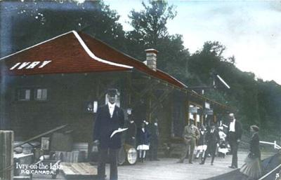 Gare, Ivry-sur-le-lac / Station, Ivry on the Lake, 1912