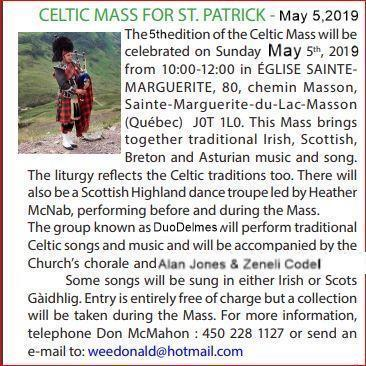 Celtic Mass for St. Patrick, Sainte-Marguerite