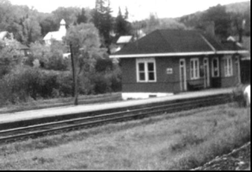 Train Station, Morin Heights. (Photo - courtesy of MHHA)