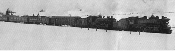 The train in winter. (Photo - courtesy of MHHA)