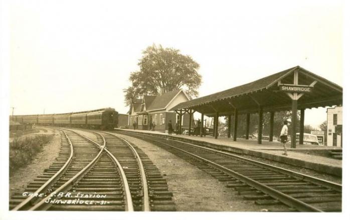 Gare du chemin de fer / Railway station, Shawbridge