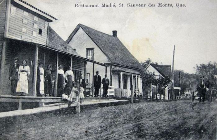 Restaurant Maillé, Saint-Sauveur-des-Monts, 1910