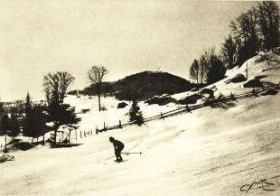 Le ski alpin, vers 1930 / Downhill skiing, c.1930