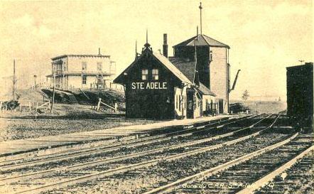 La gare / Railroad station, vers / circa 1910