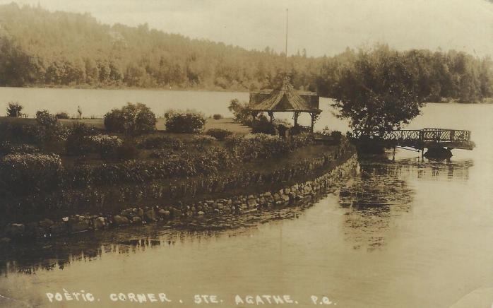 Coin poétique / Poetic Corner, Sainte-Agathe, 1920