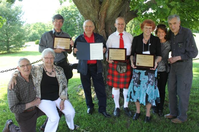 2015 AGM Luncheon and Awards Ceremony: Award recipients, St. Mungo's Church, Cushing