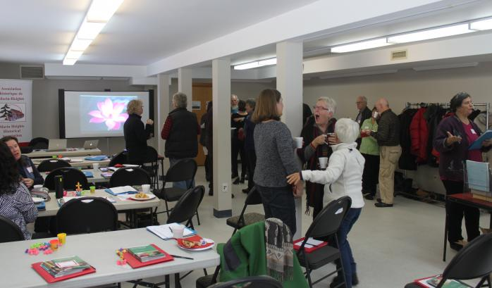 "In collaboration with the Morin Heights Historical Association, QAHN hosted its 7th and final ""Volunteering Matters"" conference in Morin Heights on October 28, 2016. Guest speakers were Kira Page and Juniper Belshaw of the Centre for Community Organizations of Montreal.  (Photo - M. Farfan)"