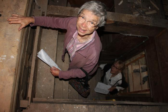 In the attic, Macdonell-Williamson House