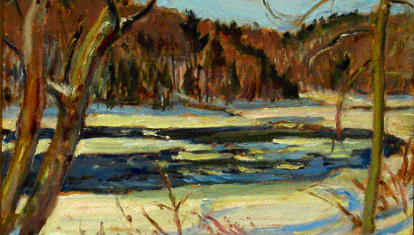 Rouge River (Below Table Falls), by A. Y. Jackson. (kastelgallery.com)