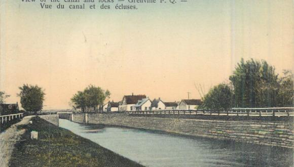 Canal et écluses, vers 1910 / Canal and locks, Grenville, c.1910