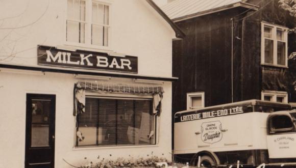 Bar laitier, Maniwaki, vers 1950 / Milk Bar, Maniwaki, c.1950
