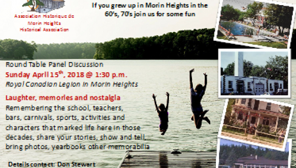 Walk down memoryy lane in Morin Heights!