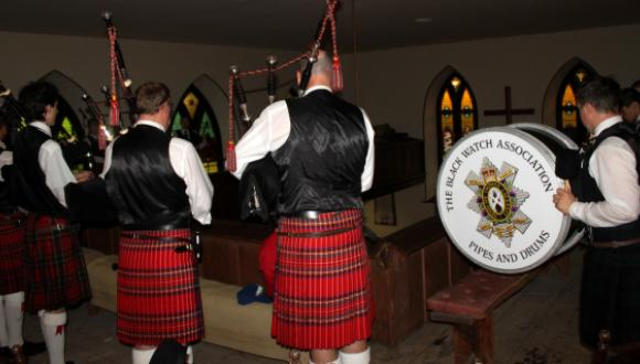 The Black Watch Association Pipe and Drum Band. (Photo - MF)