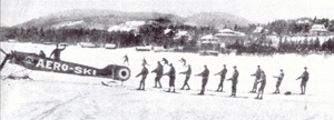 The Aeroski. (Photo - Skiing Legends and the Laurentian Lodge Club)