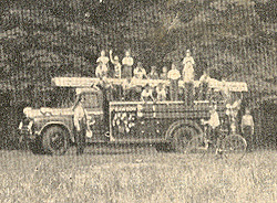 Boys' Club Fire Truck. (Photo - Rawdon News Bulletin)