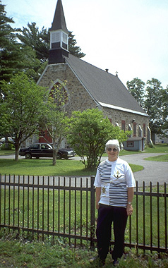 Christ Church, Rawdon; Beverly Prud'homme. (Photo - Ray & Diana Baillie)