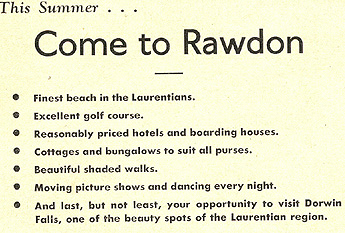 Come to Rawdon! (Photo - Rawdon News Bulletin)