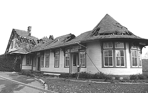 The burned-out station. (Photo - Joseph Graham)