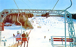 Chairlift, Saint-Sauveur, 1960s. (Photo - Farfan Collection)