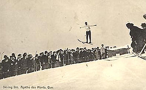 Ski jumping, Sainte-Agathe, c.1930. (Photo - Farfan Collection)
