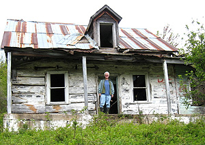 Abandoned in 1984, the Stone homestead never had electricty, running water or telephone. (Photo - Gordon Rainey)