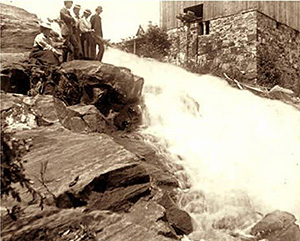Mason's Mill, early 1900s. Some of the original foundation stones are still visible today. (Photo - Rawdon Historical Society)