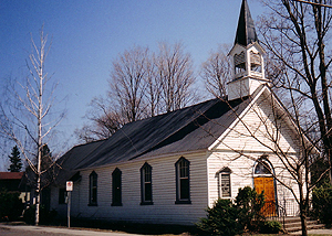Shawbridge United Church. Built in 1861, this is one of the oldest Protestant churches in the Laurentians. (Photo - Sandra Stock)