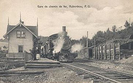 Station, Huberdeau, c.1910. (Photo - Farfan Collection)