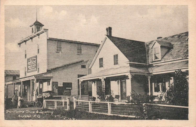 Magasin Et Maison De La Famille Staniforth Vers 1910 Staniforth S Store And Dwelling C 1910 Laurentian Heritage Webmagazine