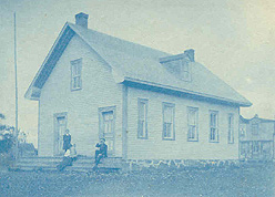 English school (1840 - 1909) built in the on 4th Ave at the corner of Metcalfe in Rawdon. (Photo - Rawdon Historical Society)